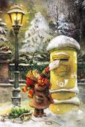 #47/52 Lisi Martin Children Merry Christmas  Happy New Year Russian Modern Rare New Postcard - New Year