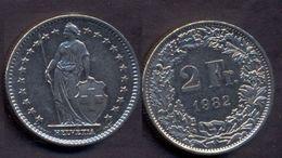 Switzerland Swiss 2 Francs 1982 VF Rare -- > 22 Stars - Switzerland