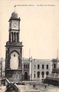CPA Maroc Casablanca La Tour De L'Horloge (animée) P693 - Casablanca