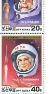 North Korea 1988 Universe (astronaut Gagarin, Female Astronaut Trekkova) 2 Full - Korea, North