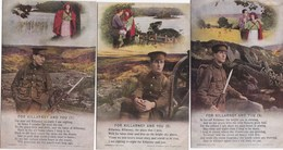 BAMFORTH SONG CARDS - FOR KILLARNEY AND YOU . SET OF 3 - Altri