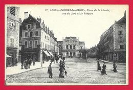 CPA Lons Le Saunier Les Bains - Place De La Liberté - Rue Du Jura Et Le Théâtre - Lons Le Saunier