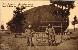 1 CPA Luchtballon Militair  Kamp V Beverloo - Montgolfières