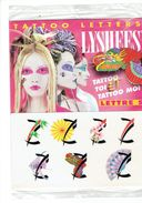 "TATTOO LETTERS - LYSHEES - Initiale  Lettre Alphabet ""S"" - éventail - Thème Mode Coiffure Maquillage Tatouage - Accessories"