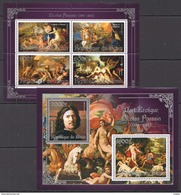 J699 2013 BENIN PRIVATE ISSUE EROTIC ART SILVER NICOLAS POUSSIN 1KB+1BL MNH - Art