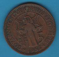 CYPRUS 5 MILS 1955 KM# 34 Elizabeth II - Cyprus