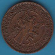 CYPRUS 5 MILS 1956 KM# 34 Elizabeth II - Chypre