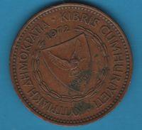 CYPRUS 5 MILS 1972 KM# 39 Colombe BATEAU - Cyprus
