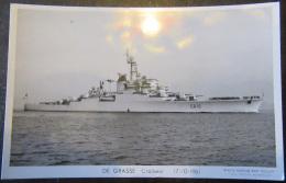 CPSM - Carte Photo Du Croiseur DE GRASSE Datée Du 17 Octobre 1961 - Photo Marius BAR Toulon - Non-circulée - Warships