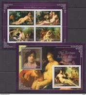 J725 2013 BENIN PRIVATE ISSUE EROTIC ART SILVER ANTONIO BELLUCCI 1KB+1BL MNH - Art