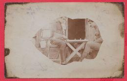 221187 / Real Photo MILITARY 1917 WW1 SOLDIERS Players Backgammon  Bulgaria Bulgarie Bulgarien Bulgarije - Guerre, Militaire