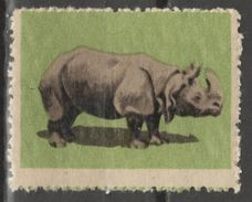 Rhinoceros Rhino - 1950's Hungary - LABEL / CINDERELLA / VIGNETTE - MH - Rhinozerosse