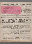 Catalogue COMPTOIR GENERAL  DE LA BIMBELOTERIE N°7 Camping Voyage Sports Loisirs 1939 (CAT912) - Werbung