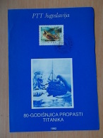 Kov 3029 - FIRST DAY, YUGOSLAVIA, BLOCK , TITANIC - Non Classés