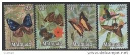 Malaysia 1970 Butterflies-Papillons-Schmetterlinge-Farfalle ** - Malaysia (1964-...)