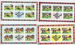 Ghana 1974-Coupe Du Monde De Football--MI 564/71-Les 4 Feuillets***MNH-NON Dentelé-Surcharge Apollo,Soyouz - Coppa Del Mondo