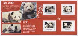 Yuan Meng Panda Du ZooParc De Beauval Faire-Part De Naissance France Chine 4 Tvp, Lettre Prioritaire -20g Collector Neuf - Collectors