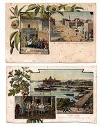 ÉGYPTE . PORT-SAÏD . 2 CARTES POSTALES . (Abîmées) - Réf. N°6599 - - Port Said