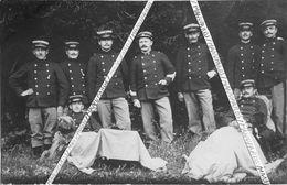 39 LAMOURA / CARTE PHOTO / 1913 / LE PIVOT / DOUANIERS / CHIENS / DOUANE - Andere Gemeenten