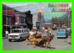 SKAGWAY, ALASKA - A HORSE-DRAWN HACK IN THE HISTORIOC GOLD TOWN - ALASKA JOE - JOHN HINDE CURTEICH INC - - Other