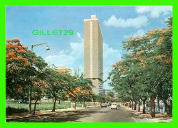MAPUTO, MOZAMBIQUE - PARTIAL VIEW OF VLADIMIR LENINE AVE - TIMBRÉ 1987 - ANIMATED - - Mozambique