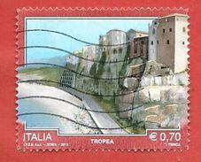 ITALIA REPUBBLICA USATO - 2013 - TURISMO TURISTICA - Tropea - 0,70 € - S. 3443 - 2011-...: Usati