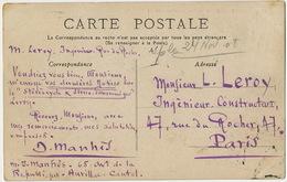 Carte Commande Stereocycle Et Stereo Panoramique Leroy Bazin  17 Rue Du Rocher Paris CP Cantal Mandailles - Photographs