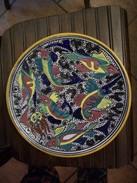 PIATTO IN TERRACOTTA Soggetto PESCI - Ceramics & Pottery
