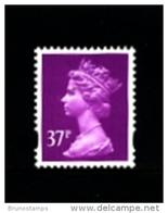 GREAT BRITAIN - 1996  MACHIN  37p. 2B  MINT NH  SG Y1703 - 1952-.... (Elizabeth II)