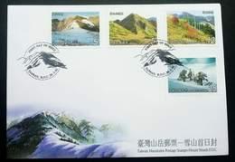 Taiwan Mountains 2002 Mountain (stamp FDC) - 1945-... Republic Of China
