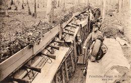 CARTE POSTALE ALLEMANDE - SOLDATS DANS UNE TRANCHÉE - SECTEUR CIREY - HARBOUEY - NONHIGNY MEURTHE ET MOSELLE 1914 1918 - Oorlog 1914-18