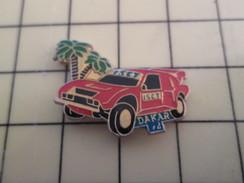 Pin611a Pin's Pins / Beau Et Rare / AUTOMOBILE : RALLYE PARIS DAKAR 1992 VOITURE ROUGE ISCT - Rallye
