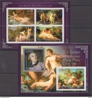 J765 2013 BENIN PRIVATE ISSUE EROTIC ART SILVER JEAN-BAPTISTE MARIE PIERRE 1KB+1BL MNH - Art