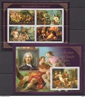 J769 2013 BENIN PRIVATE ISSUE EROTIC ART GOLD CHARLES-JOSEPH NATOIRE 1KB+1BL MNH - Art