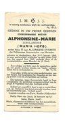 Z 224. Z.E. Moeder ALPHONSINE-MARIE (Maria Hofs) - Alg. Overste Der Reg. ANNONCIADEN HEVERLEE -°AUDERGHEM 1868/+1942 - Images Religieuses