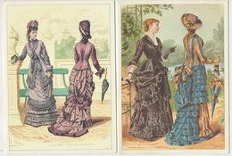 Publicité Damart  Mode 6 Cartes Doubles Costume Format 10/15 Marie De Solar Années 60/70 - Moda