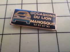 Pin611a Pin's Pins / Beau Et Rare / AUTOMOBILE : PEUGEOT OCCASIONS DU LION MANOSQUE - Peugeot