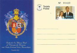 Equatorial Guinea 2004 Royal Wedding Prince King Felipe Letizia Spain Numbered Postal Stationary Postcard - Equatoriaal Guinea