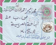 Saudi Arabia 1992 Pakistan Return To Sender Handstamp Postal Stationary Cover - Saoedi-Arabië