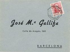 26736. Frontal A Barcelona 1954. AMBULANTE Ferrocarril San Feliu De Guixols- Berga - 1931-Aujourd'hui: II. République - ....Juan Carlos I