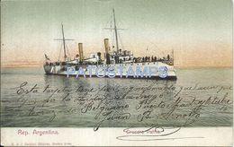 83551 ARGENTINA SHIP CRUCERO PATRIA CIRCULATED TO SANTA FE POSTCARD - Argentinië