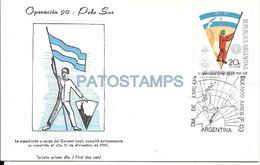 83553 ARGENTINA POLO SUR OPERACION 90 EXPEDICION  CORONEL LEAL 1965 NO POSTAL TYPE POSTCARD - Argentina