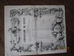LE/  CAVALCADE DE GIVET (Ardennes) Année 1845 -dépouillement Des Cassettes De Mrs Les Quêteurs -ESTIVANT-DEBRAUX Et POUL - Documentos Históricos