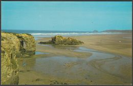 The Beach & Chapel Rock, Perranporth, Cornwall, C.1970s - Colourmaster Postcard - England