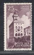 1945 SAN MARINO PALAZZO DEL GOVERNO 25 LIRE MNH ** - San Marino