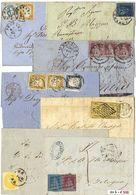 *y Antichi Stati Italiani + Regno - 19 Lett. + 3 Frammenti Con Affr. Varie Anche Interessanti Di Qualità Mista. 2 Cert.  - Stamps
