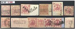 «r Napoli Regno - 44 Es. Tra Sciolti, Frammenti, 2 Coppie E 1 Lett. Con 1 + 2 + 5 Gr. - Tutti Molto Belli O Splendidi Co - Stamps
