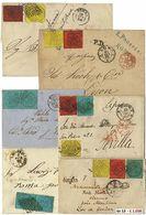 * Pontificio - 23 Lett. Della II E III Em. Con Varie Affr., Anche Tricolori, Destinazioni (Spagna, Svizzera, Francia) E  - Stamps