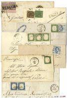 * Umbria - Oltre 70 Lettere Con Pontificio, Sardegna, Regno, Mediamente Di Buona/ottima Qualità Con Vari Annulli E Affra - Stamps