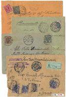 *y Regno - Floreale - 48 Lett./cart. Con Varietà Di Affr. Tra Cui Miste Con Umberto Ed Un Frontespizio Con 3 Pezzi Del 5 - Stamps
